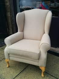 Armen Living Barrister Velvet Chair by A Beautiful Old Parker Knoll Chair Reupholstered In Ross Fabric