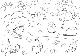 Vacances De Plage Adulte Coloring Page Coloriage Bonhomme De Etsy