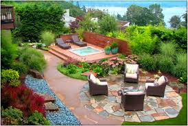 Cool Backyard Landscape Ideas That Make Your Home As A Castle ... Front Yard And Backyard Landscaping Ideas Designs Garden Home Backyard Design Ideas On A Budget Archives Trends 2 Architecture Landscape Design Hedgerows Pictures Designers Roundtable Landscapes The New House Cake Simple Of Flowers Modern Beautiful Cobblestone Siding Sloped Landscaping And Wrought Iron Invisibleinkradio Decor With Mesmerizing