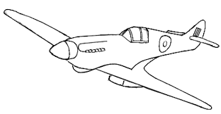 Supermarine Spitfire Coloring Page How To Draw