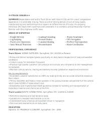 Sample Resume For Truck Driver Resumes Drivers Delivery Samples Template