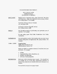Resume Examples No College Degree