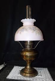 Fenton Fairy Lamp Insert by Aladdin Model No 11 Oil Kerosene Brass Lamp W Chimney Tripod