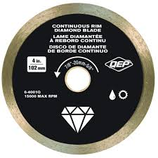 qep 4 in diamond blade for wet or dry tile saws for ceramic tile