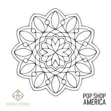 Free Printable Mandala Coloring Poster 1 By Pop Shop America Small
