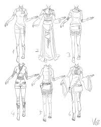 Manga Clipart Female Outfit 13