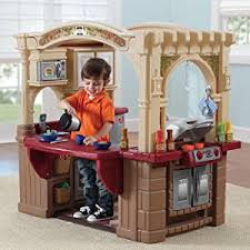Step2 Furniture Toys by Amazon Com Step2 Grand Walk In Kitchen And Grill Brown Tan