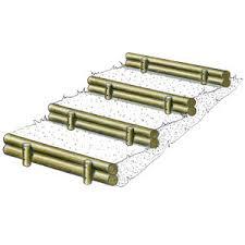 grandes marches d escalier et bordures en 2 rondins solution pin