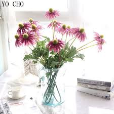 YO CHO Silk Chrysanthemum Bride Artificial Flowers For Wedding Party Home Room Hats Shoes Decoration Daisy