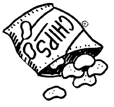 potato chips clip art black and white