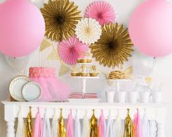 Pink And Gold Birthday Themes by Ballerina Party Etsy