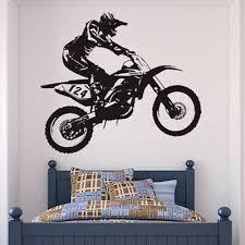 dirt bike trick motocross motorrad wandtattoo ws 18655 ebay