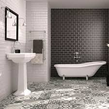 black white tiles walls and floors