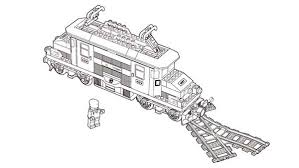 Lego Duplo Train In Front Of Rail Road Branch Coloring Pages