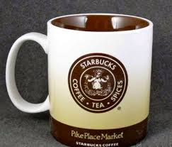 Amazon Starbucks Coffee Mug From First Store In The Pike Place Market Seattle Kitchen Dining