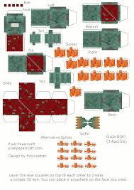 Guardian Paper ModelsCard CraftsMinecraftPapercraftTemplatesPaper