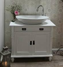 waschtisch landhausstil weiss waschbeckenunterschrank mit
