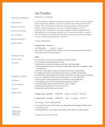 Art Education Resume Examples Teacher Elementary 5 6