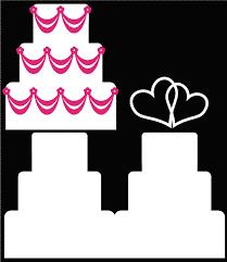 Wedding Cake Digital Cutting Files by Bird