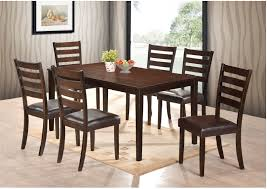 NEW Transitional Style Dining Room Set 7pc Deep Finish Table & Uph Chairs  Seat Furniture Ding Table 6 Chairs New 5 Piece Table Set 4 Chairs Glass Metal Kitchen Room Fniture Kitchen Simple Ding And Chair Set Black Incredible Size Medida Para Mesa Em Http And Ikea Clearance White Gloss Lenoir Brasilia Style Senarai Harga Homez Solid Wood C 38 Ww T Small Extending Tables Unique Elegant Square New Transitional 7pc Deep Finish Uph Seat Grand Mahogany Hard 68 Seater Kincaid Mill House With Monaco Rectangular Outdoor Patio Office Computer Chair Cover Task Slipcover