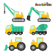 54204661 Construction Trucks Vehicles Types Vector Icon Set Car Toy ...