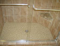 shower pan or tile floor decorative shower floor pan home