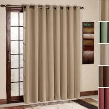 Pretty Beige Fabric Sliding Curtain Hang Bronze Curtain Bar As
