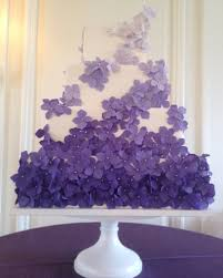 white and purple ombre wedding cakes full