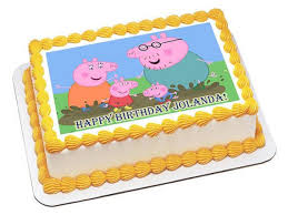 peppa pig cake decorations peppa pig 2 edible birthday cake or cupcake topper edible prints