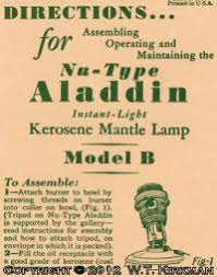 Aladdin Kerosene Lamp Model B by W T Kirkman Oil And Electric Lanterns Aladdin Mantle Lamp Books