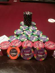 Poker Chip Stack At MD Live Room By JB