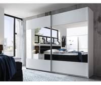 schwebetürenschrank penta 5 kleiderschrank schrank schlafzimmer weiß mit spiegel