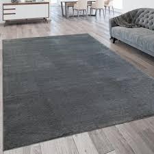 wohnzimmer teppich kurzflor teppich waschbar einfarbig in anthrazit grau grösse 160x230 cm