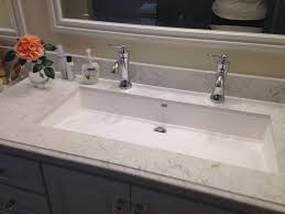 Trough Bathroom Sink With Two Faucets Canada by Trough Bathroom Sink With Two Faucets Elegant Undermount Trough