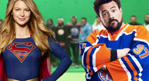 Cast And Crew Of Halloween 6 by Supergirl Crew Cosplayed As Kevin Smith Jay And Silent Bob For