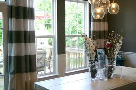 Streaky Dining Room Curtains For Tile Window Closed Simple Table Under Nice Hanging Lamp