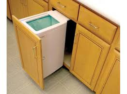 Under Cabinet Trash Can Pull Out by Top Pull Out Built In Trash Cans Cabinet Slide Under Sink