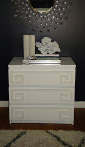 Ikea Nyvoll Dresser Grey by Overlay Greek Key Double Kit For Malm 3 Drawer In 1 2