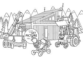 Transportations In Construction Coloring Pages For Kids Printable Free
