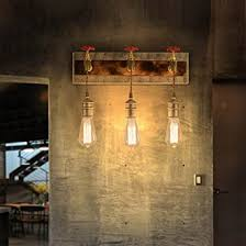 kunmai vintage metal water pipe edison bulb hanging indoor wall