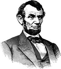 Clipart A Black and White Portrait of Abraham Lincoln