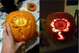 Minecraft Pumpkin Template by Decided To Carve A Friendly Pumpkin Undertale