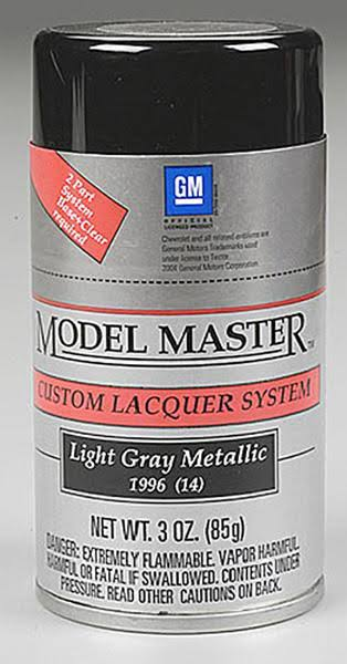 Testors Model Master Spray Light Gray Metallic 3 oz 28126