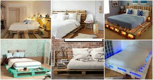 Pallet Bed Frame by Diy Wonderful Pallet Bed Ideas On A Budget