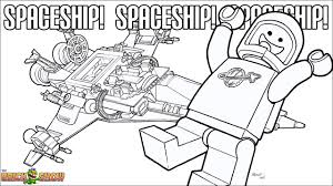 The LEGO Movie Coloring Page Benny And His Spaceship Printable Color Sheet