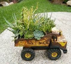 Do You Have Any Old Toy Trucks That Just Cant Part With Keep Them Forever In Your Flower Bed As A Truck Planter May Even Save Some Tears From