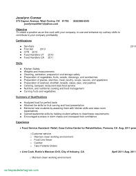 Resume Examples For Kitchen Hand