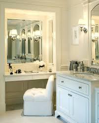 double sink vanity with makeup table amazing bathroom vanity with