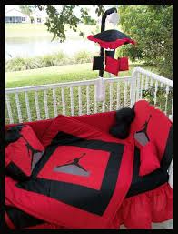 new custom made michael jordan jumpman crib bedding set mobile