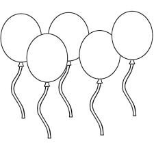 Hello Kitty With Heart Balloons Coloring Page And Ballon Coloring